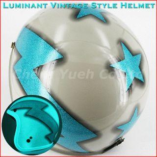 SGS Luminant/Blue Metalflake Motorcycle Street Open Face Helmet