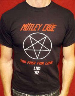 Motley Crue 82 t shirt vintage style tour mens & womens 03b