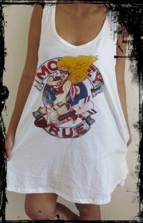 Ladies Motley Crue Dress*** Free Size Tank Top T Shirt Vest Singlet