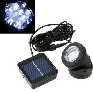 Outdoor Solar Powered LED Spotlight Garden Pool Waterproof Spot Light