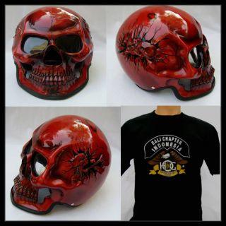 skull fullface 3d airbrush motorcycle helmet from indonesia time