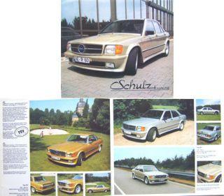 Mercedes Benz Schulz Tuning W123 190 SL W107 S Class W126 Brochure c
