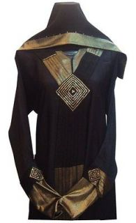 NEW Dubai Abaya bust 46 with matching shawl hijab muslim dress plus