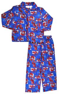 spider man big boys blue 2pc pajama pant set size