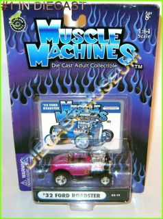 1932 32 FORD ROADSTER FLAMES MUSCLE MACHINES DIECAST FUNLINE