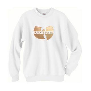WU TANG Gold Logo Crewneck Sweatshirt gza clan hip hop rap Crew neck S