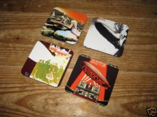 led zeppelin album cover drinks coaster set from united kingdom