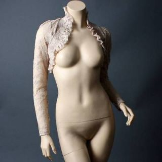 Sheer Lace Floral Women Designer Bolero Long Sleeve Crop Shrug Jacket