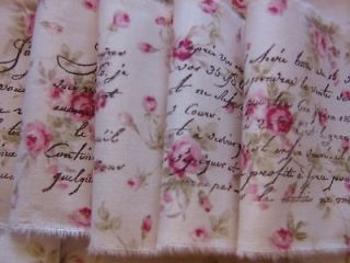 Newly listed Gorgeous PINK ROSES French Script hand rubber stamped