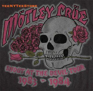 MOTLEY CRUE t shirt JUNK FOOD SHOUT AT THE DEVIL TOUR 1983 4 The 4th