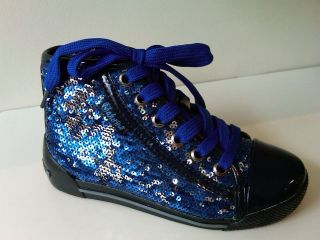 naturino high top blue sequins girls shoes reduced more options size