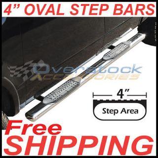 2003 2008 Honda Pilot 4 Stainless Steel Oval Side Rail Step Nerf Bars