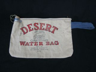 desert camping water bag los angeles canvas specialty time left