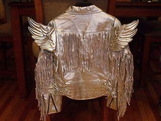 ADIDAS OBYO JEREMY SCOTT GOLD WINGS JACKET (METALLIC GOLD) $800 NWT