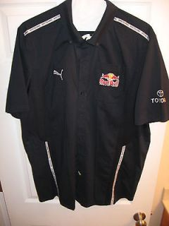 Issued Red Bull Racing Puma Pit Crew Shirt Nascar F1 MX Vettel JS7