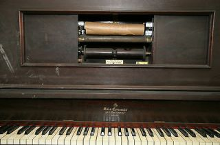 1928 Vintage Upright Player Piano, H.C.Bay   Solo Concerto, Chicago