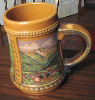 Gerzit Ceramic Beer Stein German 5 1/2 tall W Germany Vintage