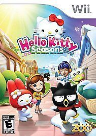hello kitty seasons nintendo wii video game one day shipping