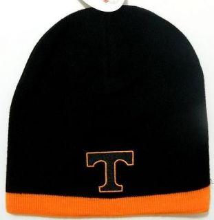 Tennessee Volunteers NCAA Black Knit Beanie Hat Cap Winter Football