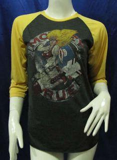 motley crue world tour 1987 88 re printed t shirt sz m