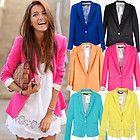 Celebrity Style Women Foldable Candy Coloured Boyfriend Blazer Suit