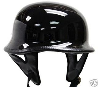 DOT German Motorcycle Street Half Helmet Chopper Cruiser Biker Gloss