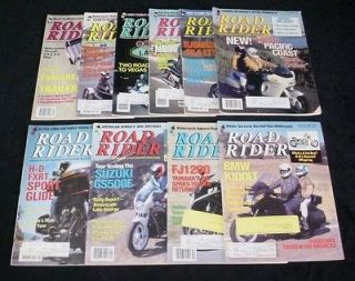 ROAD RIDER MAGAZINES Touring Motorcycle Trips Trailers Baja Las Vegas