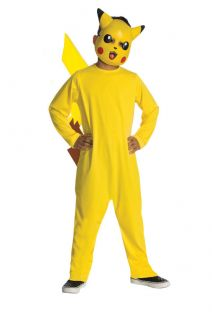 Pokemon PIKACHU Child Costume L 10 12 Large Halloween Boys Girls Dress