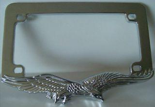 Show Chrome Eagle Motorcycle Custom License Plate Frame   USA