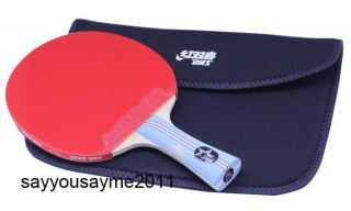 Table Tennis DHS 6 Star 6002 Racket Paddle Bat Shakehand Ping Pong w
