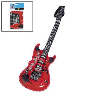 Toy 39 Inflatable Red Rock & Roll Guitar /Party Favors/FREE SH