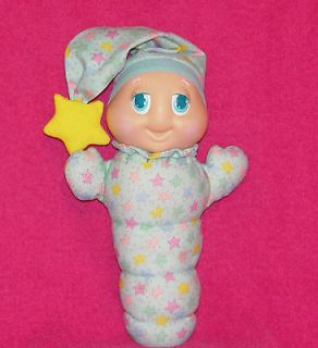 Playskool Hasbro BLUE GLOWORM DOLL with STARS Glo Glow Worm Light UP