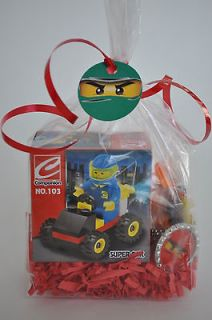 12 Lego Ninjago Block Kid Birday Party Favor Filled Goodie Bag Sets