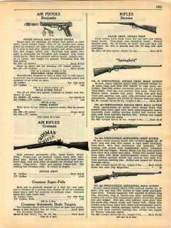 1942 benjamin air pistols crosman bb guns rifles ad time
