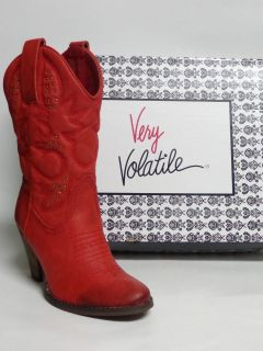 DALLAS Red Very Volatile Ladies Western Boots All Made Material Color