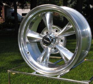 RIDLER RACING HOTROD 17x9 POLISHED CHEVY BUICK OLDS WHEELS 675 series