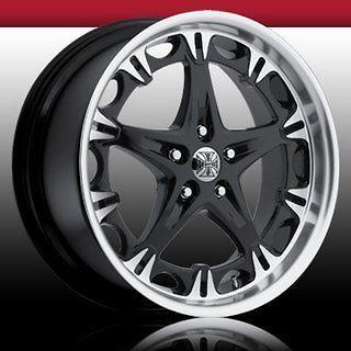 20 jesse james black wheels set 4 nissan lexus honda