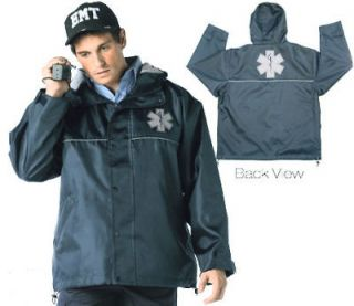 emt ems paramedic hooded storm jacket w star of life 3x