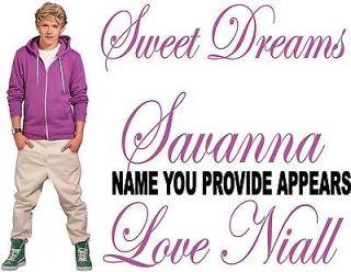 Niall Horan One Direction Custom Pillowcase Iron on Transfer