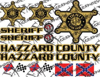 roscoe sheriff duke of hazzard golf cart decals kit from