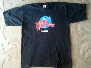 vintage planet hollywood london t shirt sz xl time left