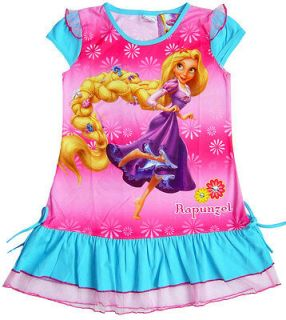 Disney TANGLED Rapunzel Nighty / Party DRESS Girls Kids Clothes New