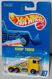 Hot Wheels Ramp Truck Kenworth Cabover Yellow Sp7s Collector #187
