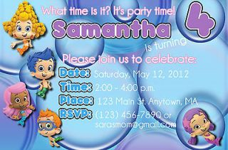 Bubble Guppies Personalized Digital OR Prints Birthday Invitation