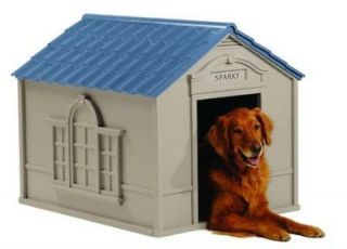 All Weather Suncast DH350 Outdoor DELUXE Pet Dog House Extra Large w
