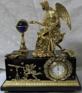 stunning franklin mint rare angel of new age museum clock