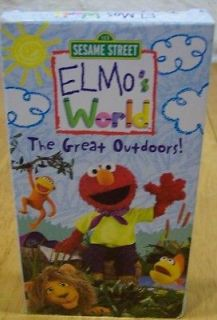 sesame street elmo s world the great outdoors vhs video