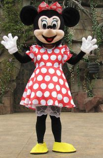 new adult size mickey minnie couple mouse mascot costume