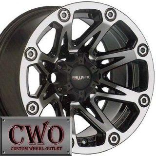 15 Black Ballistic Flash Wheels Rims 5x114.3 5 Lug Jeep Wrangler
