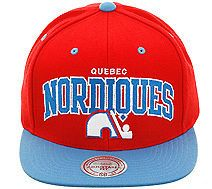 quebec nordiques snapback hat mitchell ness nd12z one day shipping